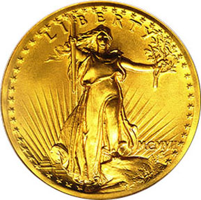 1907 Saint-Gaudens Gold $20 Double Eagle
