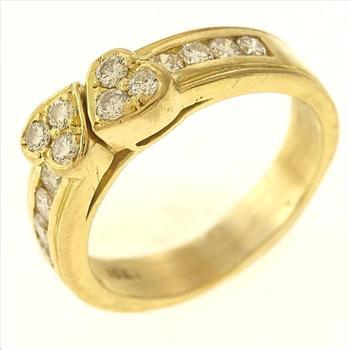 0.55ctw Diamond 18kt Gold Ring