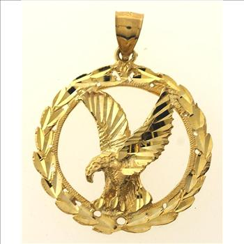 56 gram 10kt yellow gold eagle pendant property room blog 56 gram 10kt yellow gold eagle pendant aloadofball Choice Image