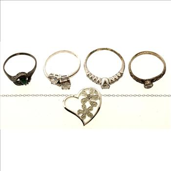 Mixed Sterling Silver, 6 Pieces