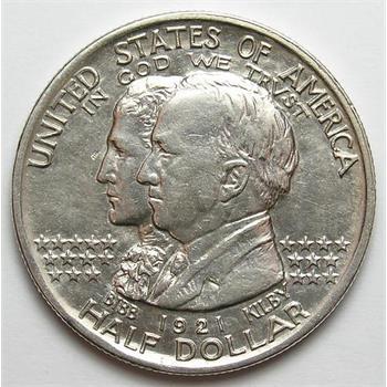 Scarce 1921 Silver Alabama Centennial Commemorative Half Dollar - Only 35,000 Released