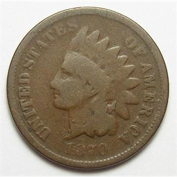 Tough Date 1870 Indian Head Cent