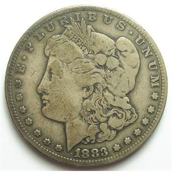 Tough Date 1883-CC Morgan Silver Dollar