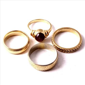 14kt Yellow Gold Rings, 4 Rings