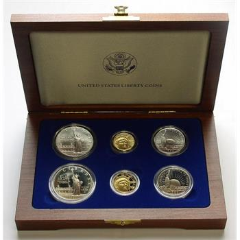 1986 Gold And Silver U S Liberty Coin Set In Original