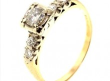 0.61ctw Diamond 14kt Gold Ring