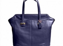 Coach Taylor Midnight Navy Leather Tote Carry-all (Brand New), Retail $449.99