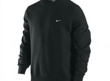 Nike Black Fleece Crew Neck Sweater, Size XL