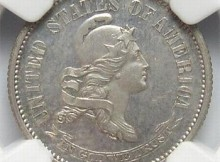 VERY RARE 1870 Silver NGC Slabbed PF-63 J-837, P-928 Dime Pattern Coin - Rarity 5 - 48 Known To Exist