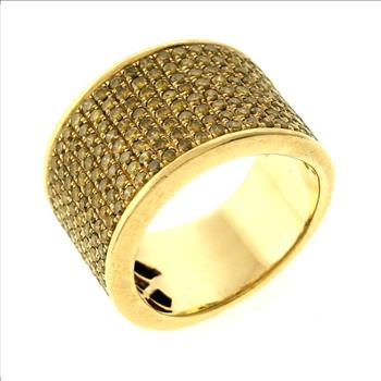 5.00ctw Treated Diamond 10K Yellow Gold Ring