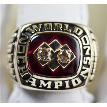 Solid 18K Gold MSBL Championship Ring 24.93 Grams, Retail $3,200