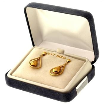 1.8 Gram 10kt Yellow Hollow Gold Earrings