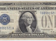 1928-A Funnyback $1 Blue Seal Silver Certificate