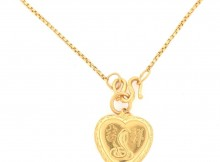 7.1 Gram 22kt Gold Necklace And Charm