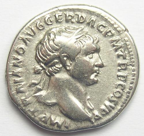 Genuine Ancient Roman Silver Denarius - Trajan - AD 98-117
