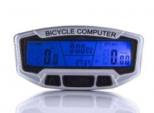 New LCD Bicycle Computer Odometer Speedometer Velometer With Backlight
