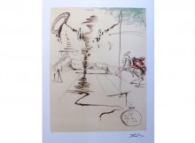 "Holiday Gift Idea: Salvador Dali, ""CHEVALIER"" Limited Edition Lithograph"