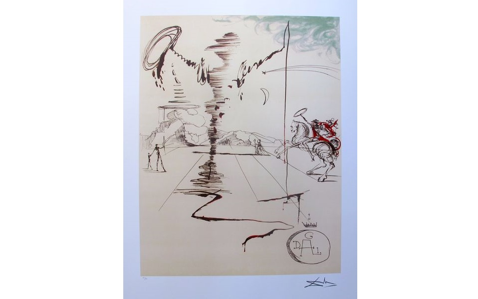 """Holiday Gift Idea: Salvador Dali, """"CHEVALIER"""" Limited Edition Lithograph"""