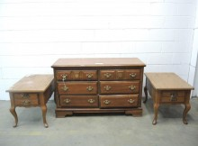 Bassett Dresser and Side Tables, 3 Pieces