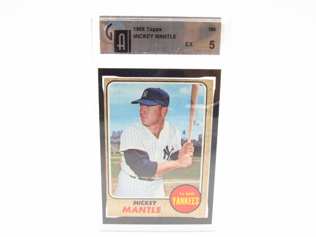 The Mick Collectibles Graded 1968 Mickey Mantle Baseball