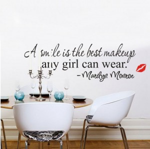 Marilyn Monroe Quote Vinyl Removable Wall Art
