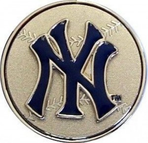 NY Yankees Spinner Belt Buckle