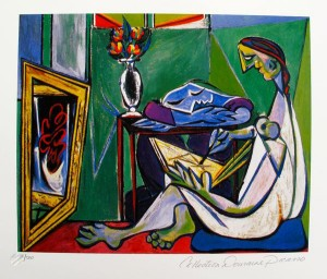 One Of The Legends Pablo Picasso Art WOMAN DRAWING BEFORE ...