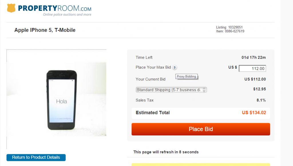ProxyBid Online Auction