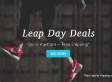 Flash Auctions with Free Shipping