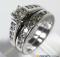 white gold bridal ring set