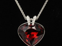 swarovski red necklace