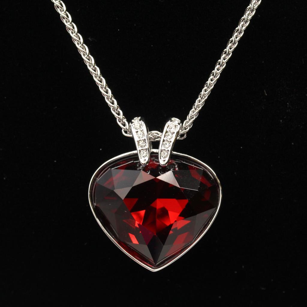 swarovski red necklace